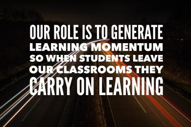 Generate Learning Momentum